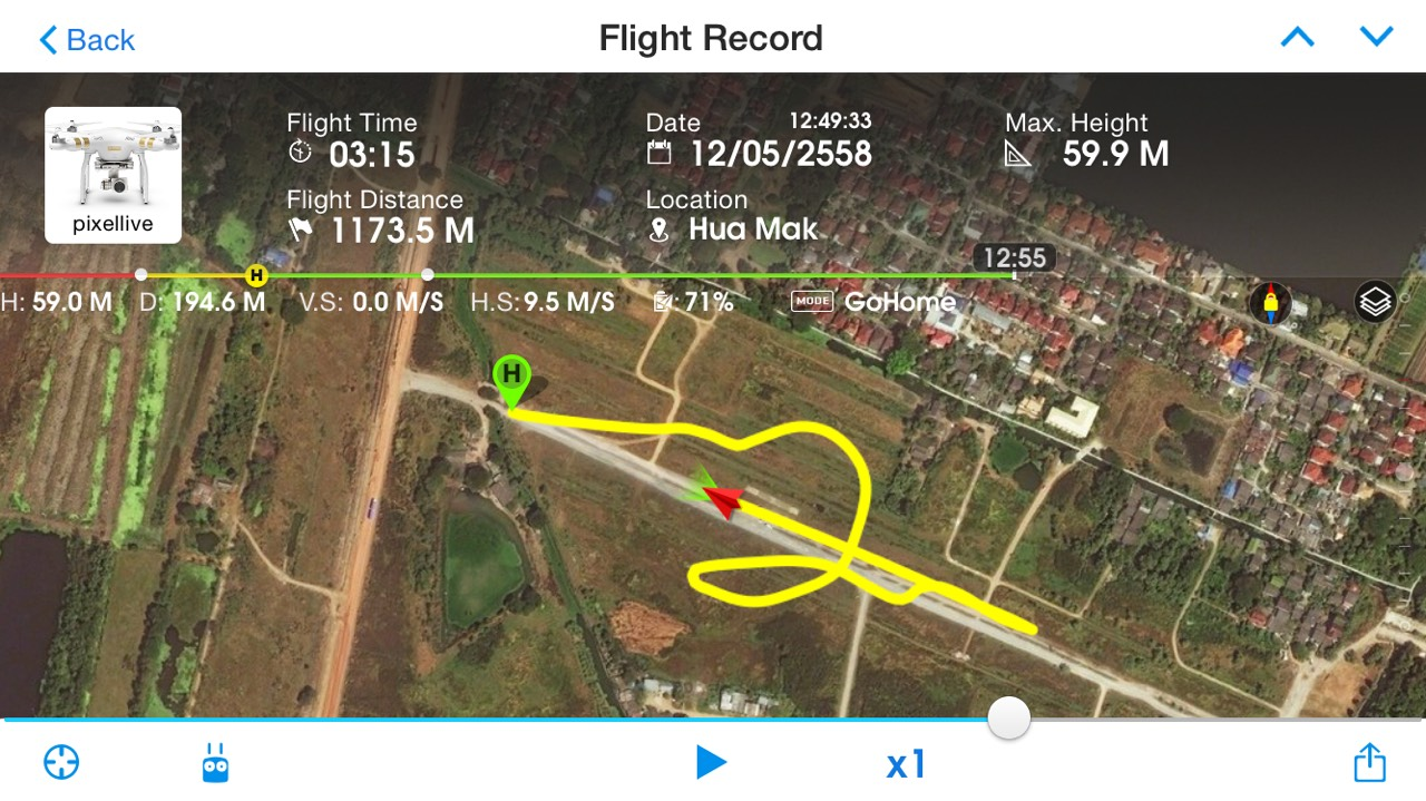Phantom 3 RTH Test Flight Log