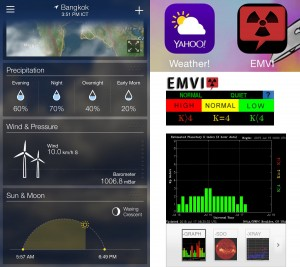 iPhone App check Wind & K-Index