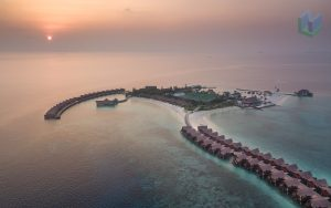 Sunset Aerial Maldives