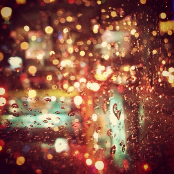 Raindrops on the mirror